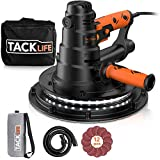 """TACKLIFE Electric Drywall Sander, 6.7A(800W) Handheld Wall Sander 15ft Cable Variable Speed, Automatic Vacuum System LED Light,12 pcs 9"""" Sanding Discs and a Carry Bag with Dust Collection System-PDS03B"""
