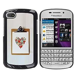 For BlackBerry Q10 Case , Love Spring Summer Poster Work - Diseño Patrón Teléfono Caso Cubierta Case Bumper Duro Protección Case Cover Funda