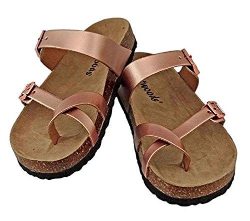 OUTWOODS Kids Bork 41 Toe Loop Birk Style Slide On Sandal