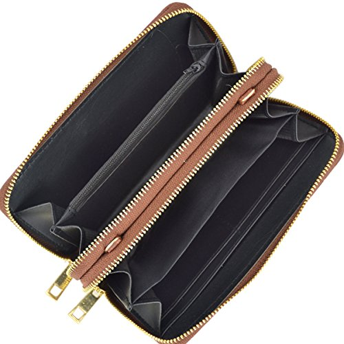Shoulder Wallet Leather Crossbody black Wristlet Bag Women Clutch Purse Travel Bag 1050 Yq5wAxd