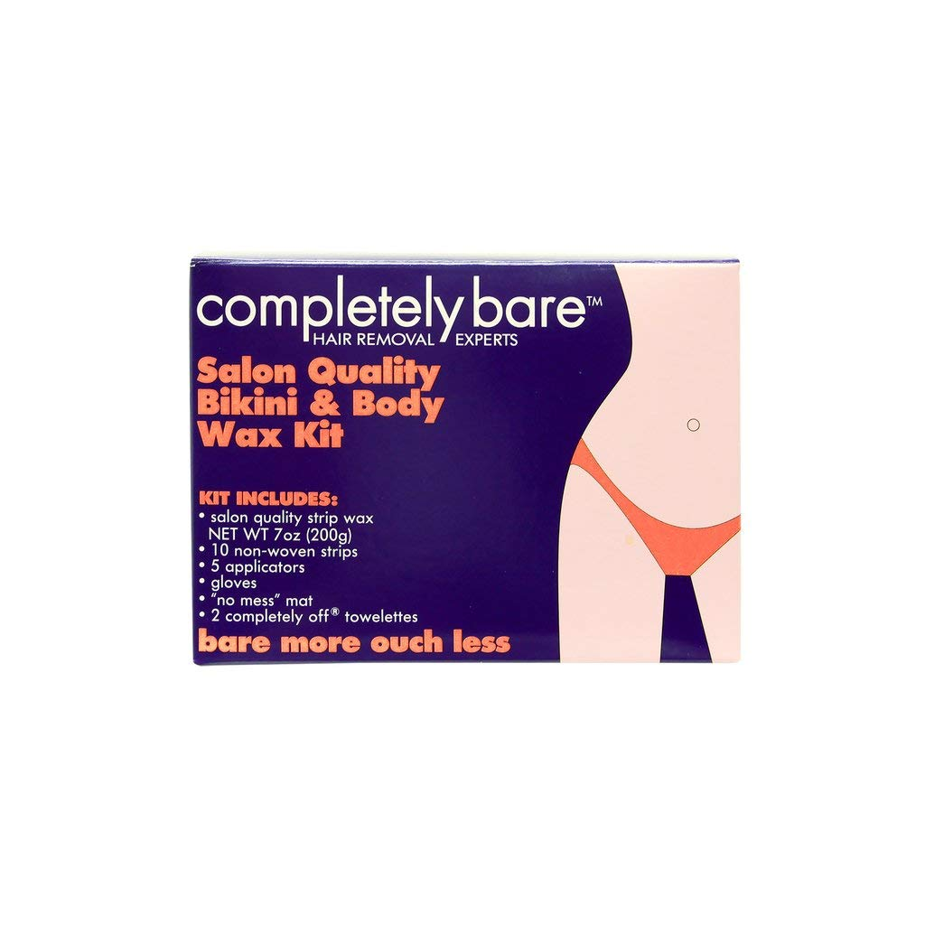 bare more ouch LESS Salon Quality Bikini & Body Wax Kit for hairless & smoother skin by Completely Bare 7 oz