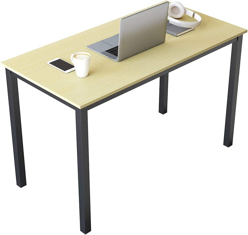 SAMTRA 47 inch Simple Wood Computer Table for Bedroom Home Office Modern Study Writing Laptop Desk for Writers or Student