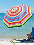 Rio Beach Deluxe 6ft Sun Protection Beach Umbrella with Tilt
