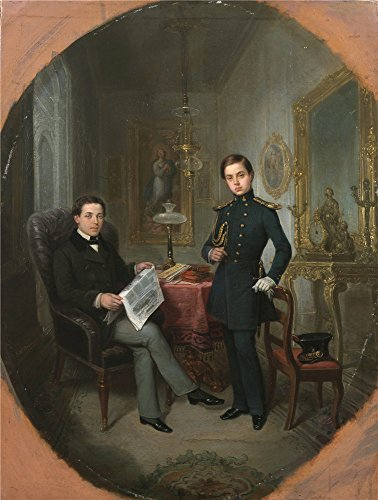Oil Painting 'Romero Y Lopez Jose Maria Ricardo Y Federico Santalo Ca. 1850 ' Printing On Perfect Effect Canvas , 30 X 40 Inch / 76 X 101 Cm ,the (Halloween Peter Griffin Costume)