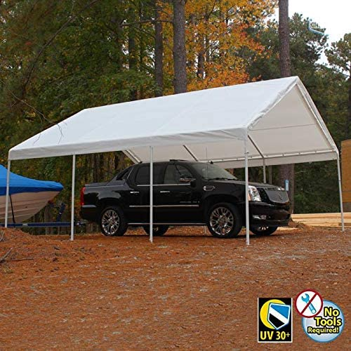 King Canopy Hercules Canopy with Cover White Cover 18 x 20