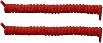 Elastic No Tie Curly Shoe Laces Coiler Elastic Twisty Unisex Fits Kid /& Adult
