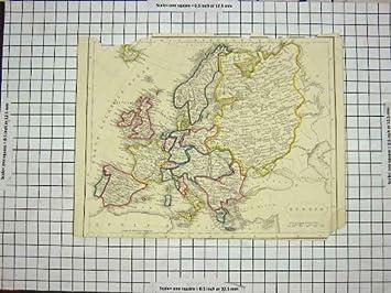 Karte Italien Frankreich.Amazon De Antike Karte Europa 1848 Frankreich Spanien Italien