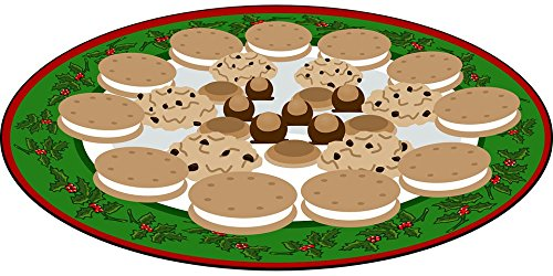 Gifts Delight Laminated 48x24 inches Poster: Buckeyes Candy Christmas Cookies Dessert Food Plate -