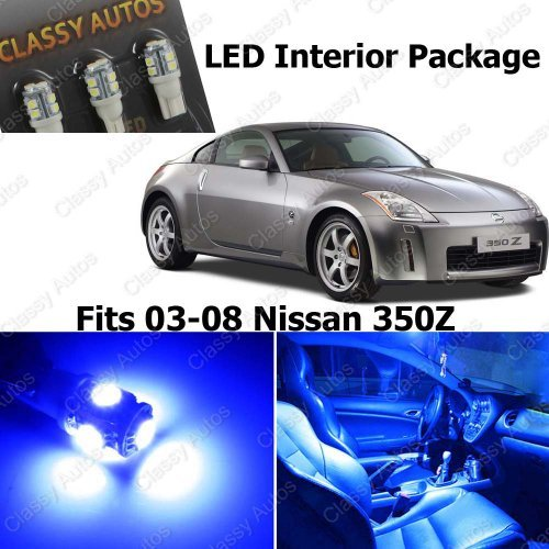Classy Autos Nissan 350Z BLUE Interior LED Package (5 Pieces)