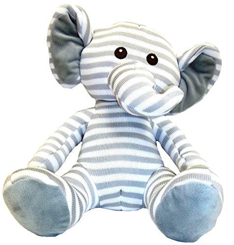 Goffa Knit Stitches Elephant Plush, 12