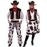 Fancy Me - Déguisement Couple Cowboy Woody et Cowgirl Jessie Costume Grande Taille et Standard - Marron, Femmes 44-46 et Hommes XL