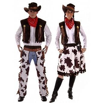 Couples Mens u0026 Ladies Cowboy u0026 Cowgirl Woody u0026 Jessie Wild West Western Fancy Dress Costumes  sc 1 st  Amazon UK & Couples Mens u0026 Ladies Cowboy u0026 Cowgirl Woody u0026 Jessie Wild West ...