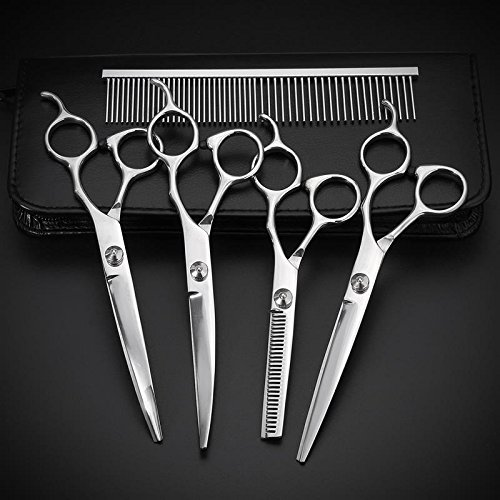 7' Comb (Pet Puppy 7'' Professional Grooming Scissors Comb Kit 6Pcs/Set Dog Hair Cutting Thinning Trimmer Shears Pet Beauty Products)