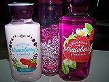 3 Piece Bath & Body Works Bourbon Strawberry & Vanilla Gift Set- Body Lotion, Shower Gel & Fragrance Mist (Bourbon Strawberry & Vanilla)