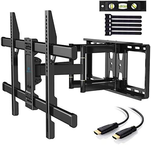 picture of PERLESMITH TV Wall Mount Bracket Full Motion Dual Articulating Arm