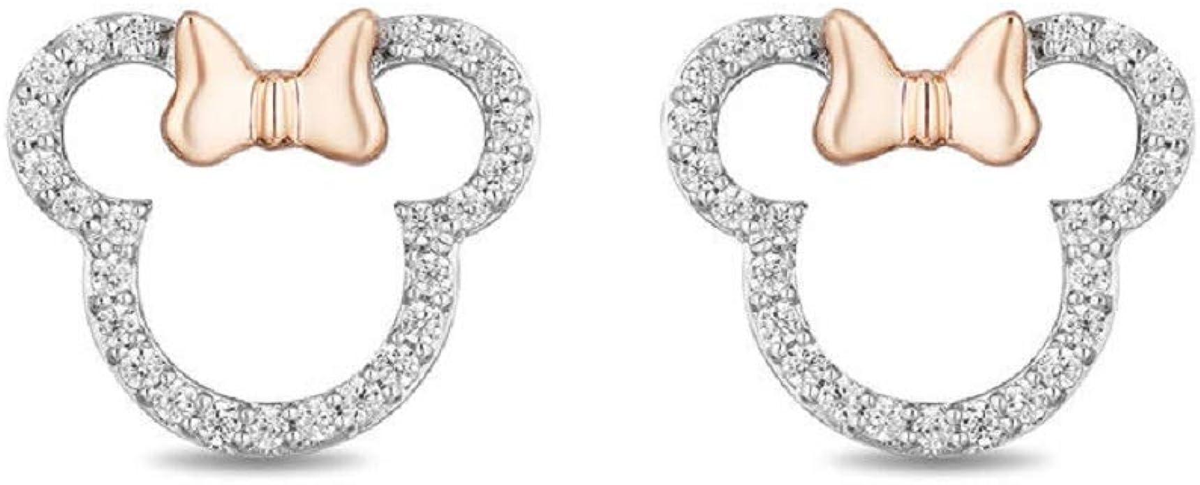 925 Sterling Silver Dangle Drop Leaf Earrings Studs in Enamel Gift for Mom on Mothers Day