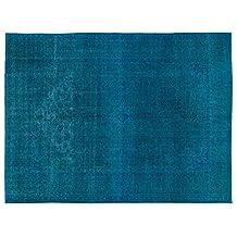 Nakkas Antique Handwoven Rug Persian Turquoise 9'4'' X 12'7''