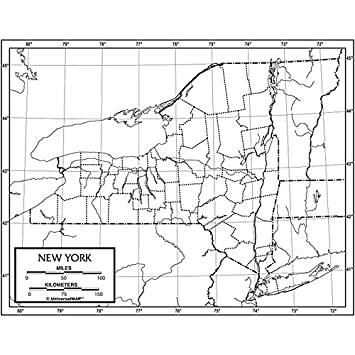 Amazon Com New York Outline Map Paper Office Products