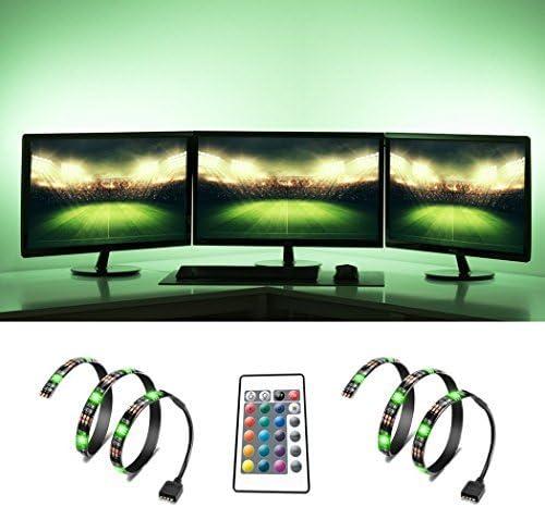 TV retroiluminación, feewer sesgo iluminación USB luz LED para HDTV, Televisor LED resistente al agua luz con remoto inalámbrico controlador RGB LED Strip: Amazon.es: Iluminación