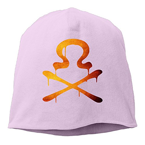 Unisex The Omega Gang Symbol Cool Skully Cap Slouch Beanie Hat Pink