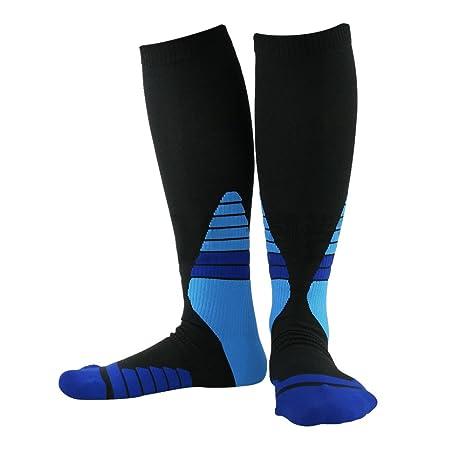 MyLifeUNIT Comprimir esquí calcetines, calcetines de elástica para circulación, rodilla alta calcetines para hombres