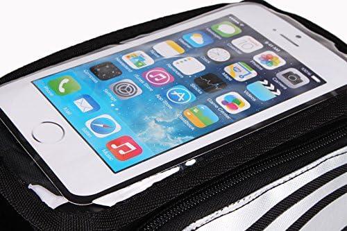 K-S-Trade/® pour Apple IPhone 11 Pro Max Sac Cadre Sacoche De V/élo Sac De Guidon Top Tube Etui V/élo Bicyclette Bagagerie Housse Noir-Argent Imperm/éable 1x