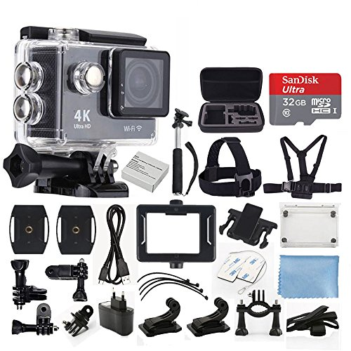 Ultra HD 4K 12MP with WiFi Action Camera (Black) - 3