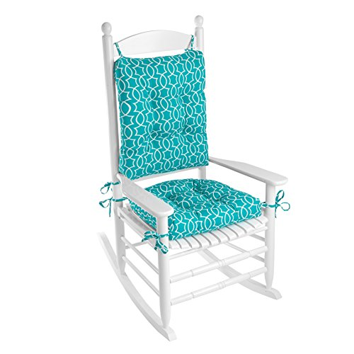 Outdoor Rocking Chair Cushion Set (Teal Titan Peacock)