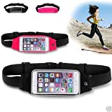 """Aeoss Fashion Outdoor Waist Packs Bags Unisex Sport Running Waistband Travel Belt Compatible with all mobiles till 5.7"""" like Iphone 6 plus 5 5c 4 4s note 3 note 4 note 5 - Black"""