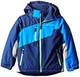 Free Country Boys' Little Heavyweight Coat with Pop Details, Navy, Medium/5/6