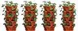 Mr. Stacky 5-Tier Strawberry Planter Pot, 5 Pots (4-Pack)
