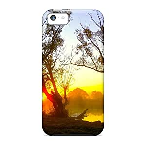 Rugged Skin Cases Covers For Iphone 5c- Eco-friendly Packaging(misty Dusk)