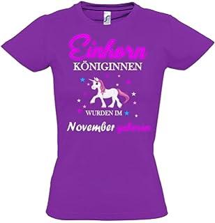 Einhorn Königinnen Wurden im November Geboren ! Unicorn Hoodie Oder Shirt  Kids Gr.116 128 39844ff58a