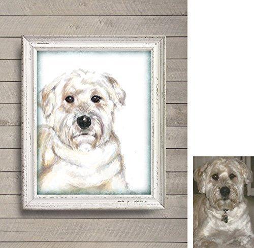 Custom Dog Portrait - Custom Pet Portrait by TripleStudio