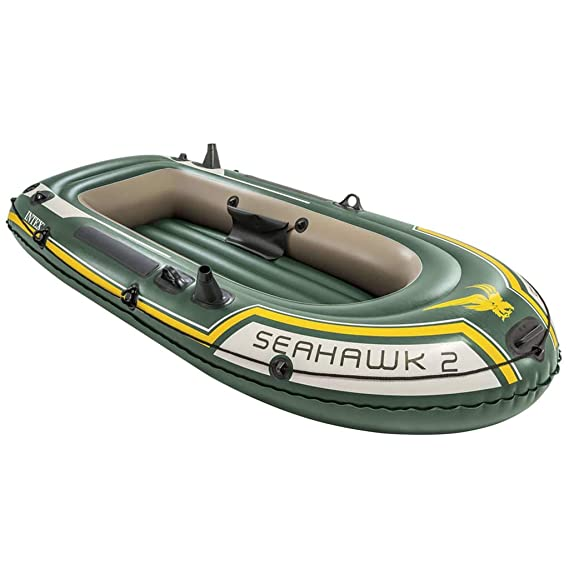 vidaXL Intex Barca Inflable Seahawk 2 con Motor de Arrastre y ...