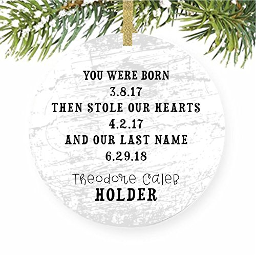 Adoption Christmas Tree Ornament Trees for Adopted Child, Foster Care, Gotcha Day, Baby's - Day Santa Ornament