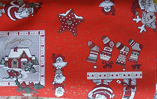 Tela-Cojín tejido Mantel-Cortina 140 x cm, diseño de Navidad ...