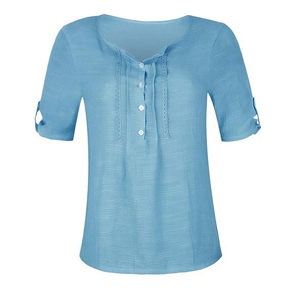 Camisetas Mujer, Camisas Mujer Elegantes Casual con Estampado Floral Camisetas Mujer Camiseta Blusas Tops para Mujer Fiesta en la Playa: Amazon.es: Ropa y ...