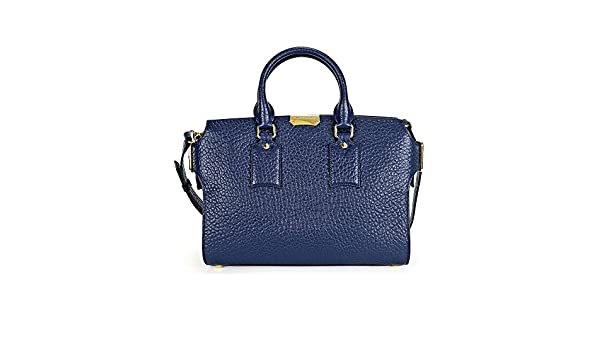 a5ec56bb409b Amazon.com  Burberry The Medium Clifton Blue Carbon Leather Tote  Shoes