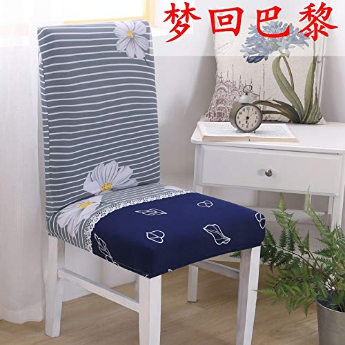 T-CYYT 2 Pieces Seat Cover Elastic Joint Hotel Chair Cover European Fabric Solid Color Stool Package Chair Cover, Dream Back to Paris ()