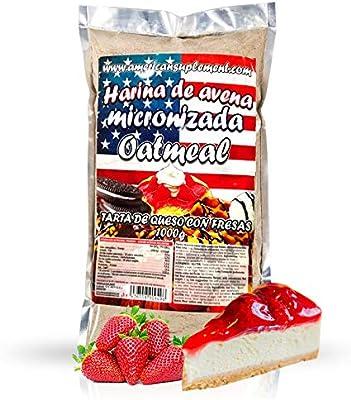 American Suplement - Harina de Avena Micronizada - 1kg - Tarta de Queso con Fresas