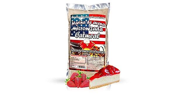 American Suplement - Harina de Avena Micronizada - 1kg - Tarta de Queso con Fresas: Amazon.es: Salud y cuidado personal