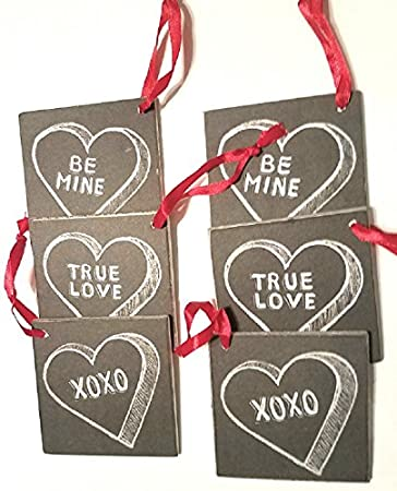 Amazon Com Valentine Wooden Gift Tags Set Of 6 From Primitives By