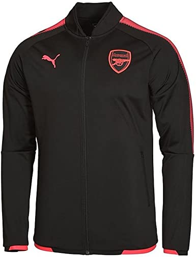 Puma 2017-2018 Arsenal Stadium Jacket (Black): Amazon.es: Deportes ...