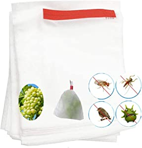 HHTHH 100 pcs 10 x 12.5 inchs Reusable Fabric Fruit Protection Bags Non-Woven Fabric Bags for Apple Grape Mango Pear Fruit and Vegetable
