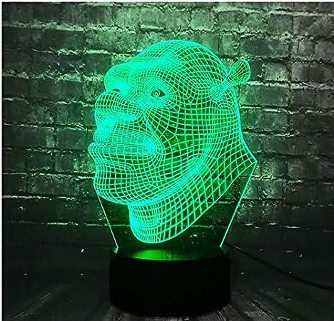 laoniebaozhuang Illusion d'optique 3D Shrek Action Figure