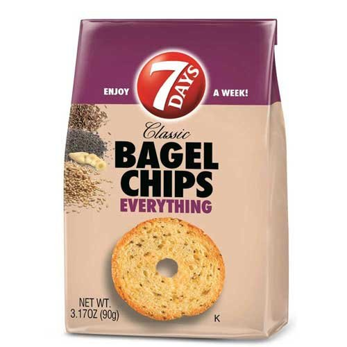 7Days Bagel Chips, Everything , 3.17 Ounce Bag (Pack of 12)
