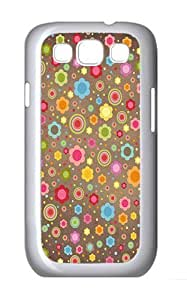 Samsung Galaxy S3 Case and Cover- Colorful Floral Pattern Custom PC Case for Samsung Galaxy S3 / SIII / I9300 White