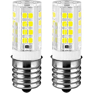 KINDEEP Ceramic E17 LED Bulb for Microwave Oven Appliance, 40W Halogen Bulb Equivalent, Daylight White 6000K, 350LM, Pack of 2