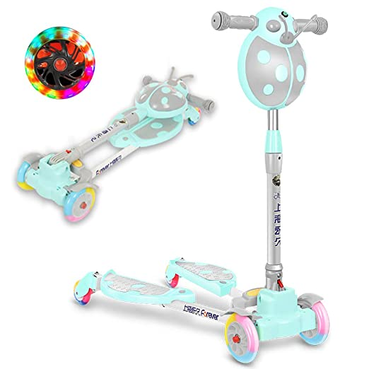 CHHMAELOVE Scooter con Led Luces Manillar,Patinete Plegable ...